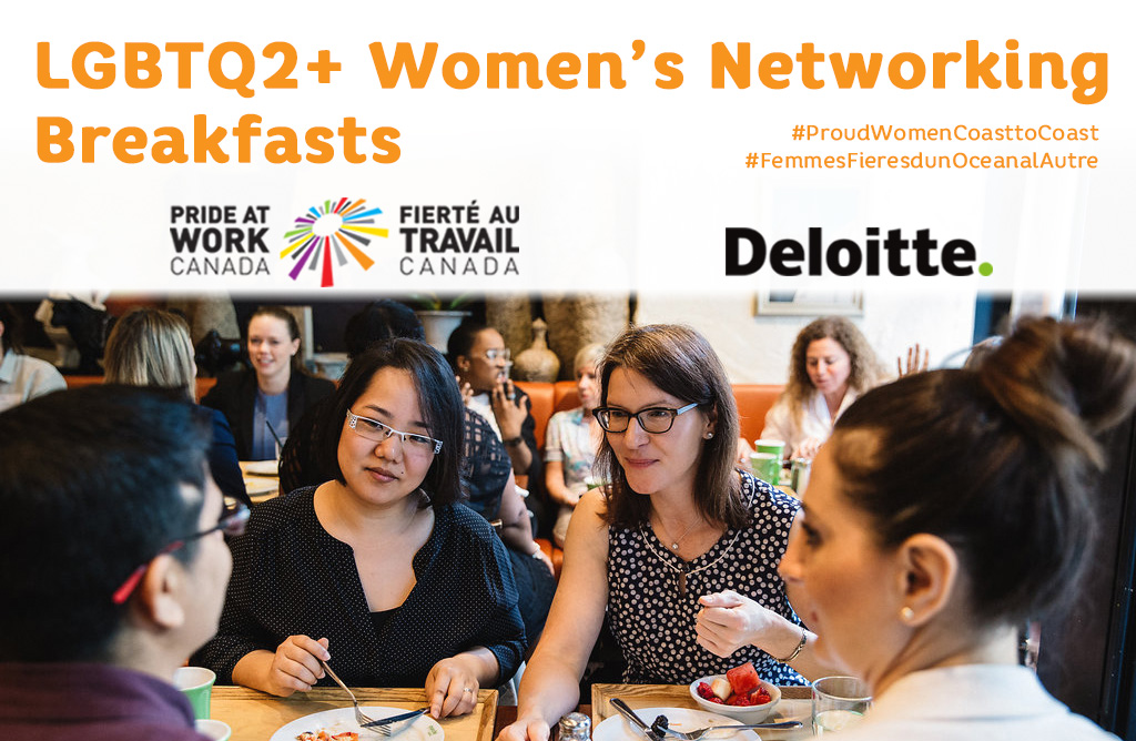 LGBTQ2+ Women's Networking Breakfast advertisement banner
