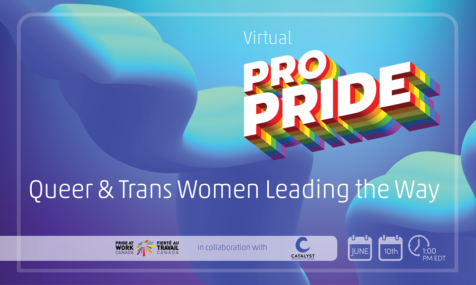 Virtual Pro - Queer and Trans Digital Conference English Banner