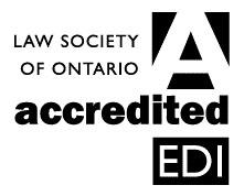 Law Societty of Ontario's accreditation hours logo